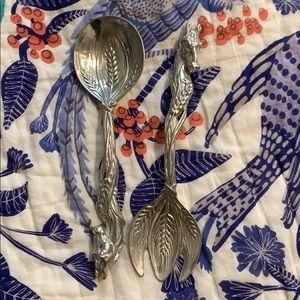 Arthur Court serving utensil fork and spoon horse
